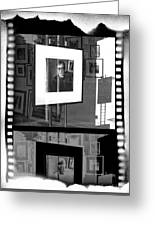 Photographic Artwork Of Woody Allen In A Window Display Greeting Card