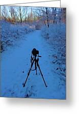 Photography In The Winter Greeting Card