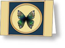 Phthalo Butterfly Greeting Card