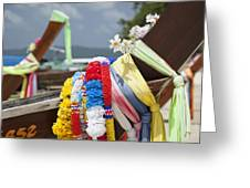 Phuket Longboats Greeting Card