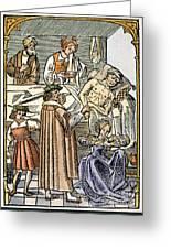 Physician & Plague Victim Greeting Card