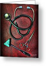 Physician's Tools  Greeting Card by Lee Dos Santos