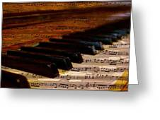 Piano And Music Greeting Card