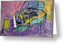 Piano Green Greeting Card