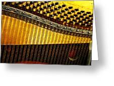 Piano Harp Greeting Card