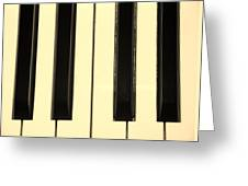 Piano Keys In Sepia Greeting Card