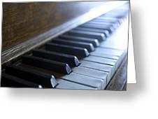 Piano Keys Greeting Card by Jon Neidert