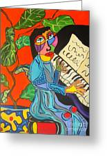 Piano Lady Greeting Card
