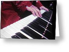 Piano Man At Work Greeting Card by Aaron Martens