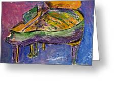 Piano Purple Greeting Card