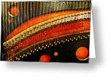 Piano Strings Greeting Card