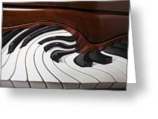 Piano Surrlistic Greeting Card