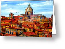 Piazza Armerina Sicily Greeting Card