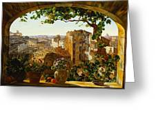 Piazza Barberini In Rome Greeting Card