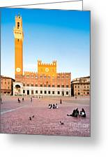 Piazza Del Campo In Siena Greeting Card