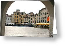 Piazza Del Mercato Lucca Greeting Card