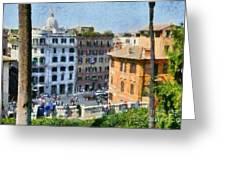 Piazza Di Spagna In Rome Greeting Card