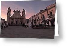 Piazza Duomo Terrasini Greeting Card