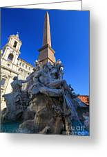 Piazza Navona Fountain Greeting Card