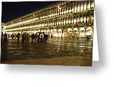 Piazza San Marco Greeting Card by Ellen Henneke