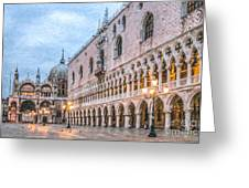 Piazza San Marco Venice Greeting Card
