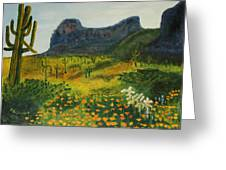 Picacho Poppies Greeting Card