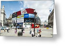 Picadilly Circus London Greeting Card