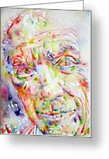 Picasso Pablo Watercolor Portrait.2 Greeting Card