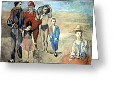 Picasso's Family Of Saltimbanques Greeting Card