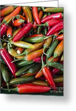Pick A Peck Of Peppers Greeting Card