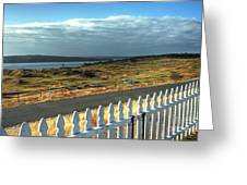 Picket Fence - Chambers Bay Golf Course Greeting Card