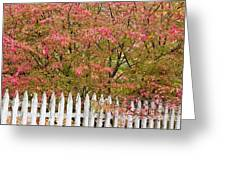 Picket Fence Fall Greeting Card