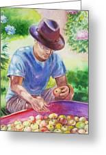 Picking Apples Greeting Card
