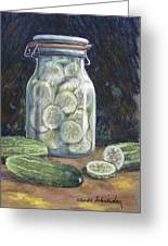 Pickled Cucumbers Greeting Card