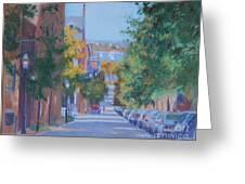 Pickney Street Fall Greeting Card