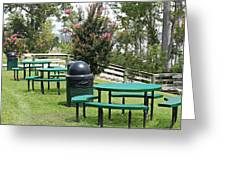 Picnic Area Greeting Card