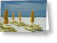 Picnic At The Beach Greeting Card