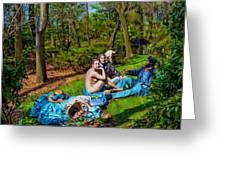 Picnic In The Nude Greeting Card
