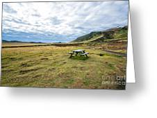 Picnic On Another Planet Greeting Card