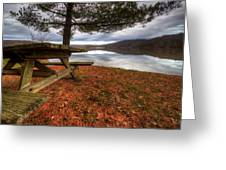 Picnic On The Lake Greeting Card
