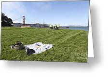 Picnicking At Golden Gate Park Greeting Card