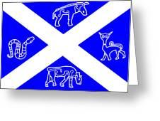 Pictish Scotland Flag 2 Greeting Card