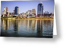 Picture Of Cincinnati Skyline And Ohio River Greeting Card