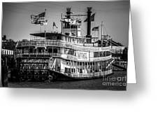 Picture Of Natchez Steamboat In New Orleans Greeting Card