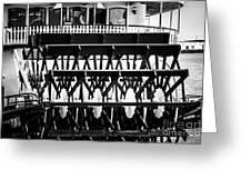 Picture Of Natchez Steamboat Paddle Wheel In New Orleans Greeting Card
