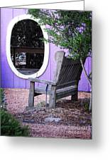 Picture Perfect Garden Bench Greeting Card