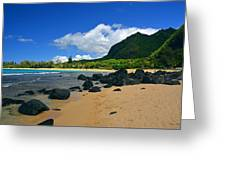 Picture Perfect Haena Beach Greeting Card