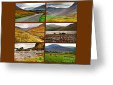 Autumn Picture Window Of The Lake District Greeting Card