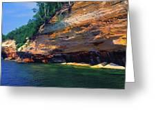 Pictured Rocks National Lakeshore, Lake Greeting Card