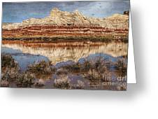 Picturesque Blue Canyon Formations Greeting Card